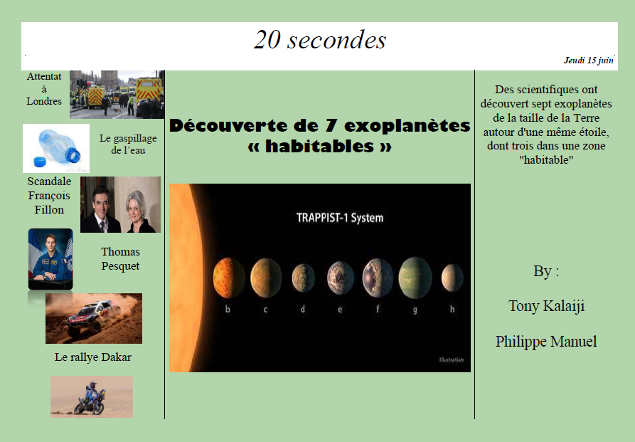 20 secondes