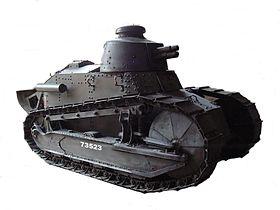 Quelle est le véhicule de combat blindé et chenillé le plus efficace  de la Première Guerre mondiale ?