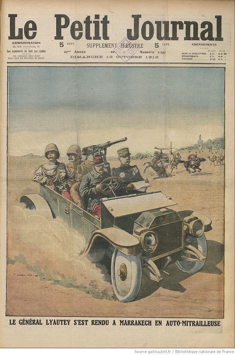 800px lyautey reaches marrakesh in armored car 1912 le petit journal