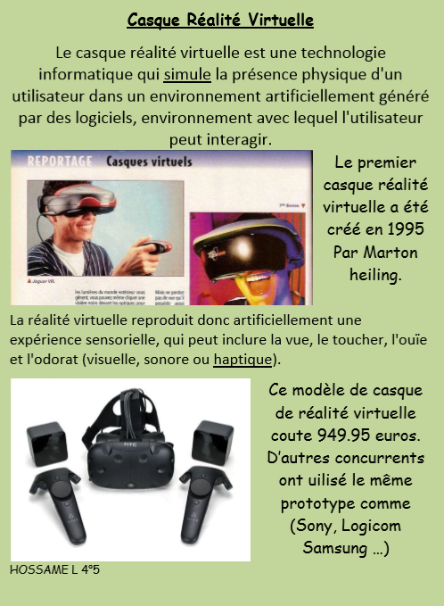 Casque realite virtuelle