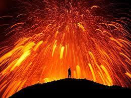 Feux d artifices volcaniques