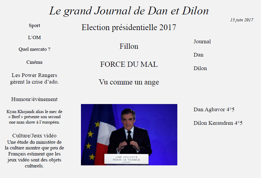 Grand journal dan dilon
