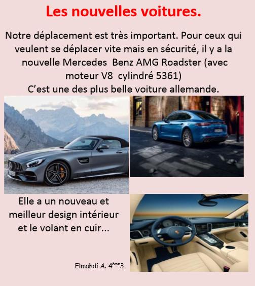 Nouvelles voitures