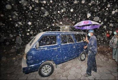 Pluie de cendre
