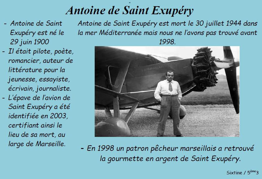 Saint exupery sixtine