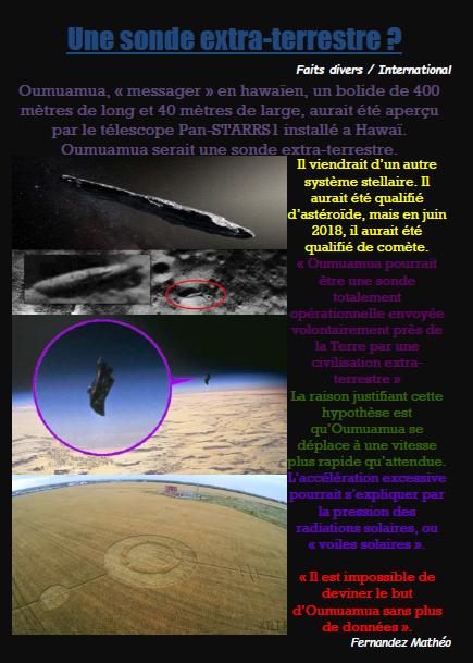 Sonde extra terrestre
